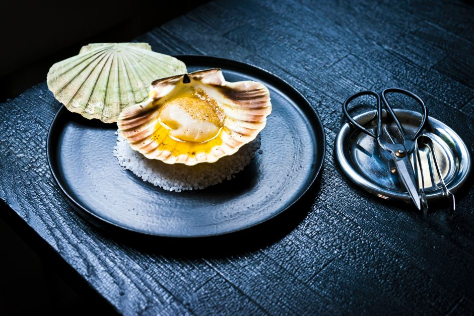The famous Orkney Scallops in shell