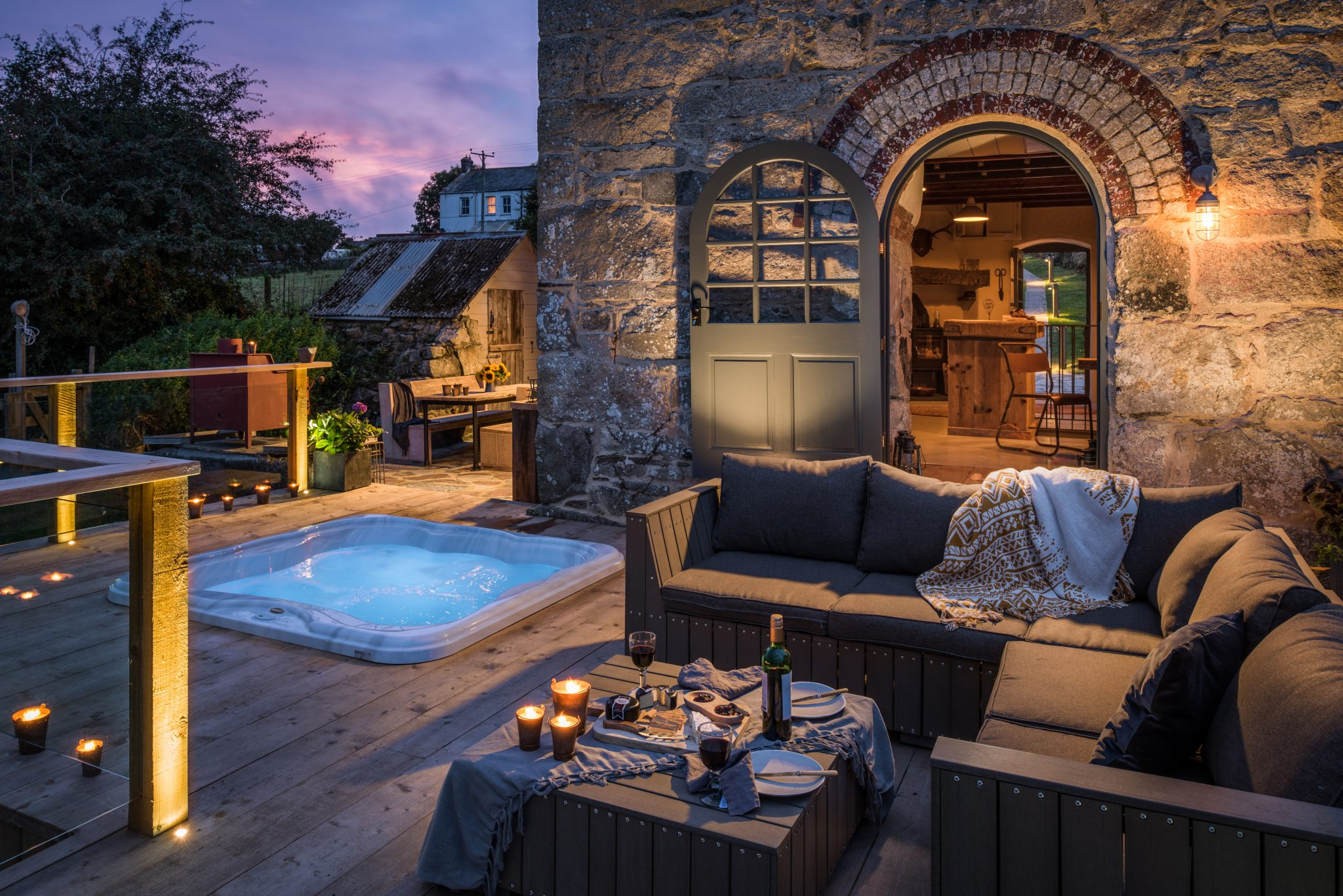 The Stack hot tub Unique Home Stays