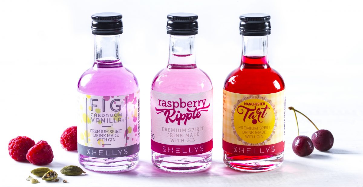 Shellys Drinks minature gins Raspberry Ripple Manchester Tart