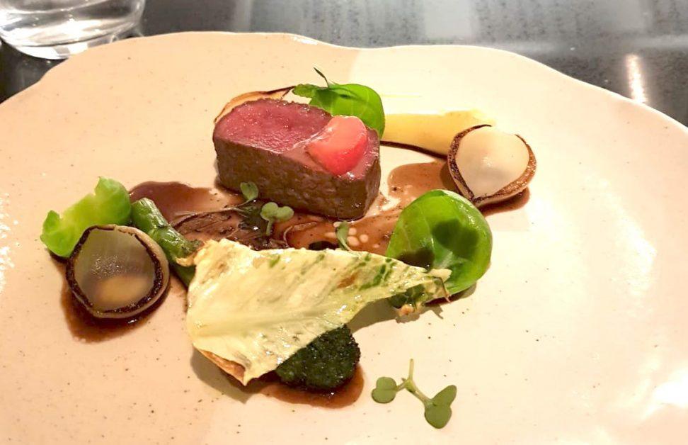 The roe deer venison fillet at Le Cochon Aveugle restaurant in York