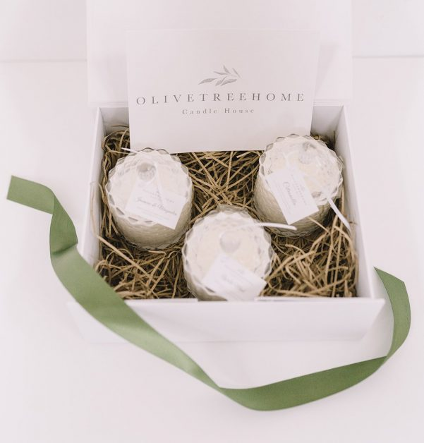 Scented Candle Trio by Olivetreehome Christmas presents for women 2020