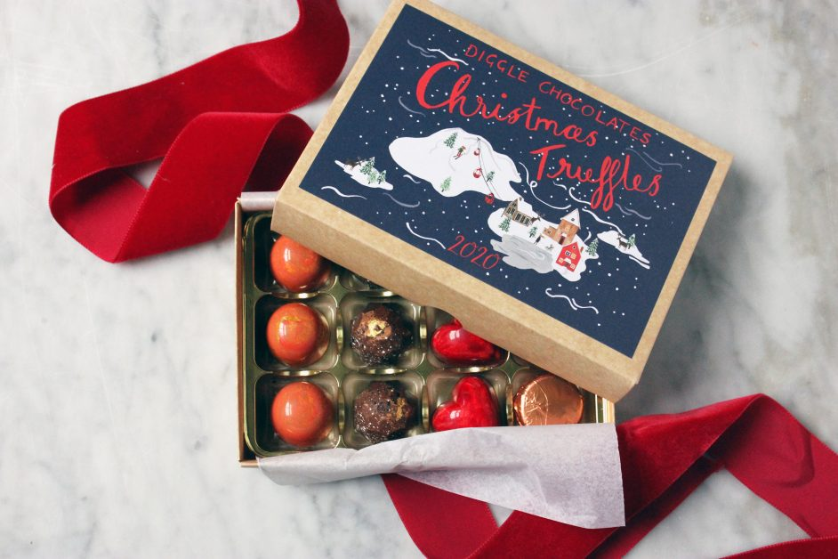 Diggle chocolates Christmas Truffles gifts for her
