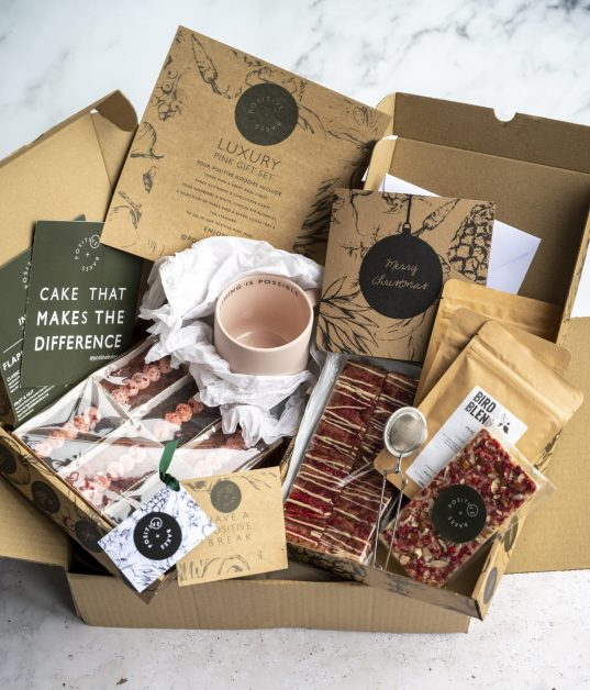 Christmas hamper 2020 Luxury Pink Christmas Gift Set by Positive Bakes