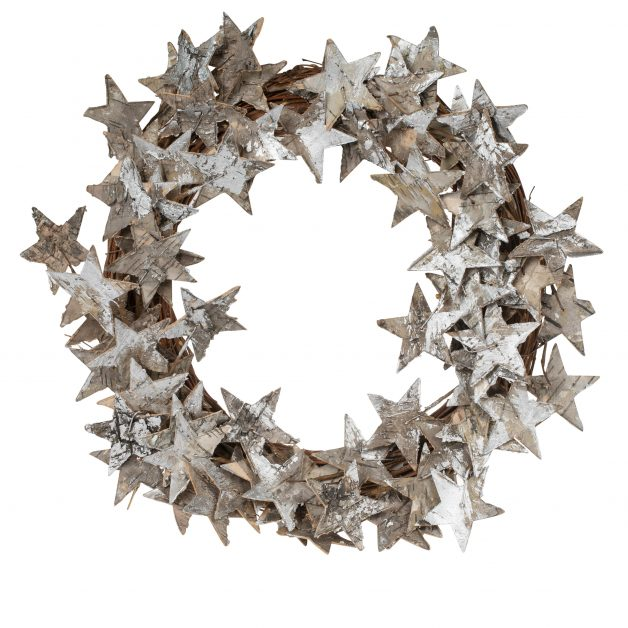 Natural Bark Star Wreath by the Natural Trust Shop