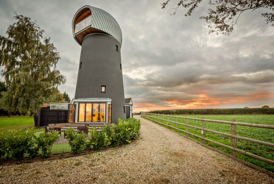 Unusual places to stay UK windmill