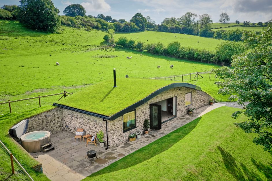Unusual places to stay UK The Burrow, Wales