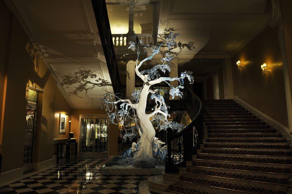 Claridge's Christmas Tree 2009 by John Galliano for Dior
