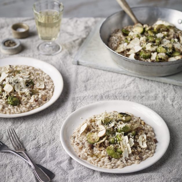 Vegan recipes Brussel sprout risotto