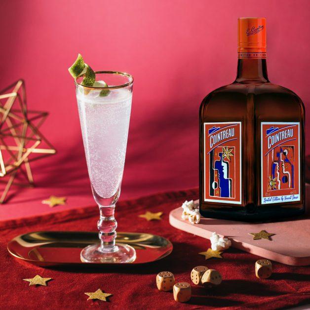 Valentine's cocktails ideas Cointreau sparkling margarita