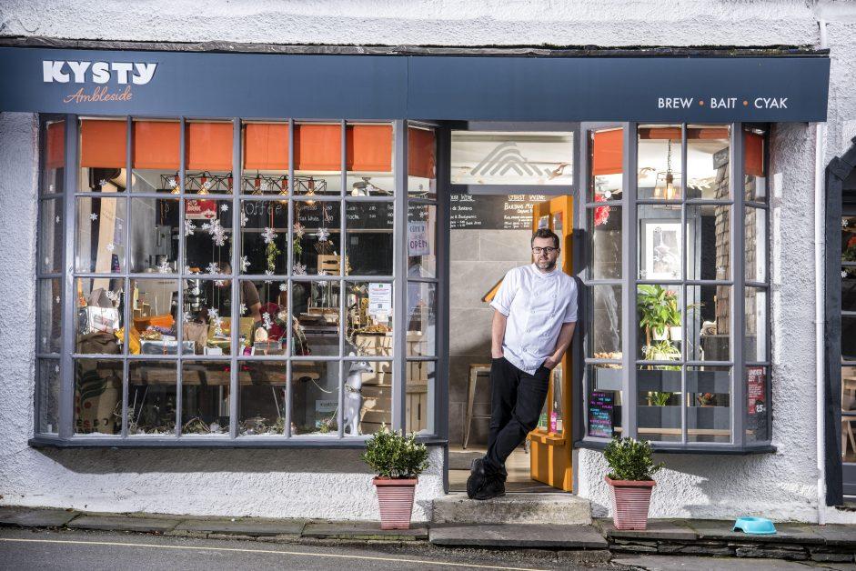 Chef Ryan Blackburn photographed in Kysty, Ambleside