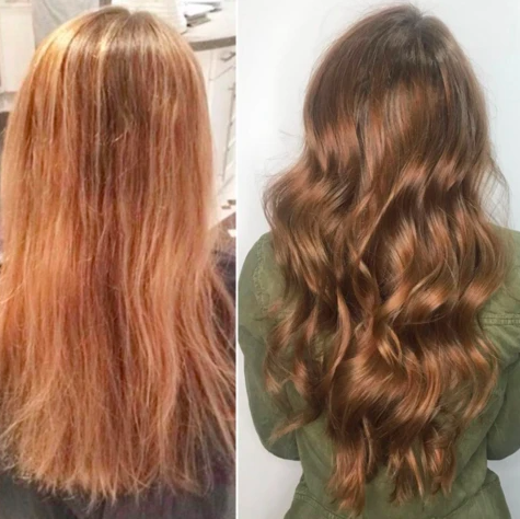 Before and after pictures of hair mask