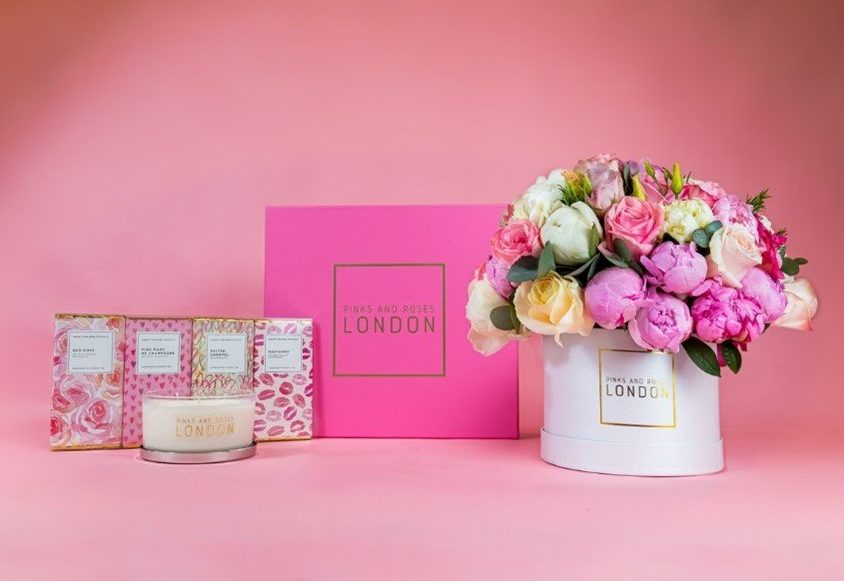 The Berry Best Mum hamper flowers Pinks and Roses London