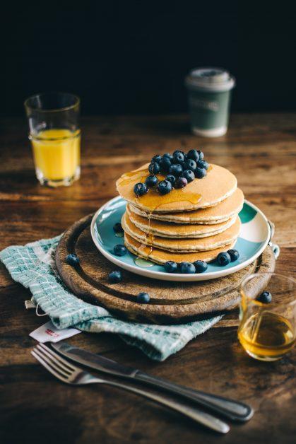 Blueberry pancake recipe
