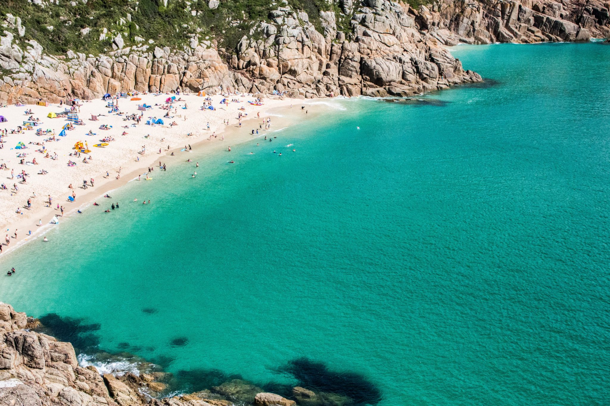 UK best beaches Porthcurno Cornwall
