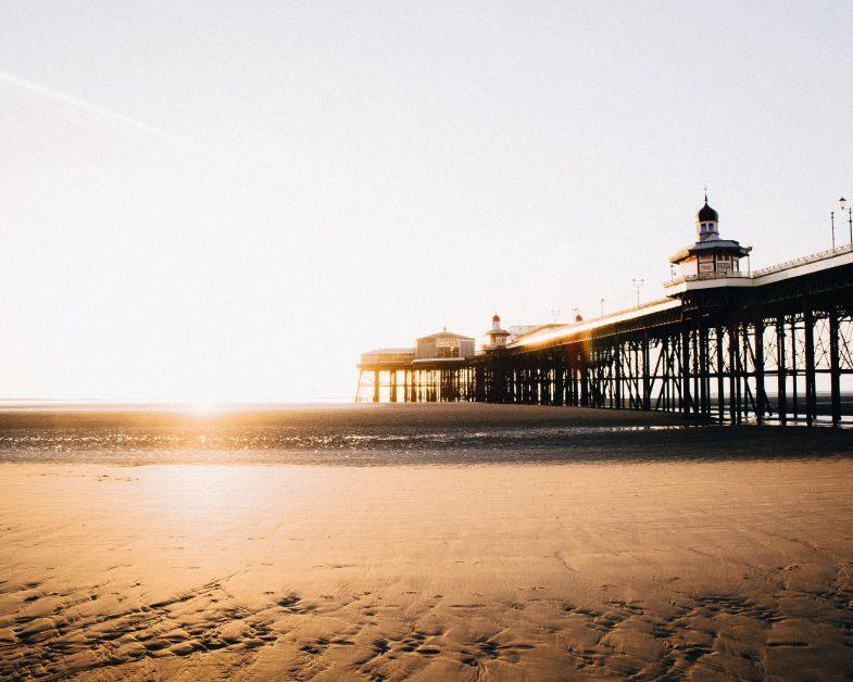 sandy beaches in the UK Blackpool Beach