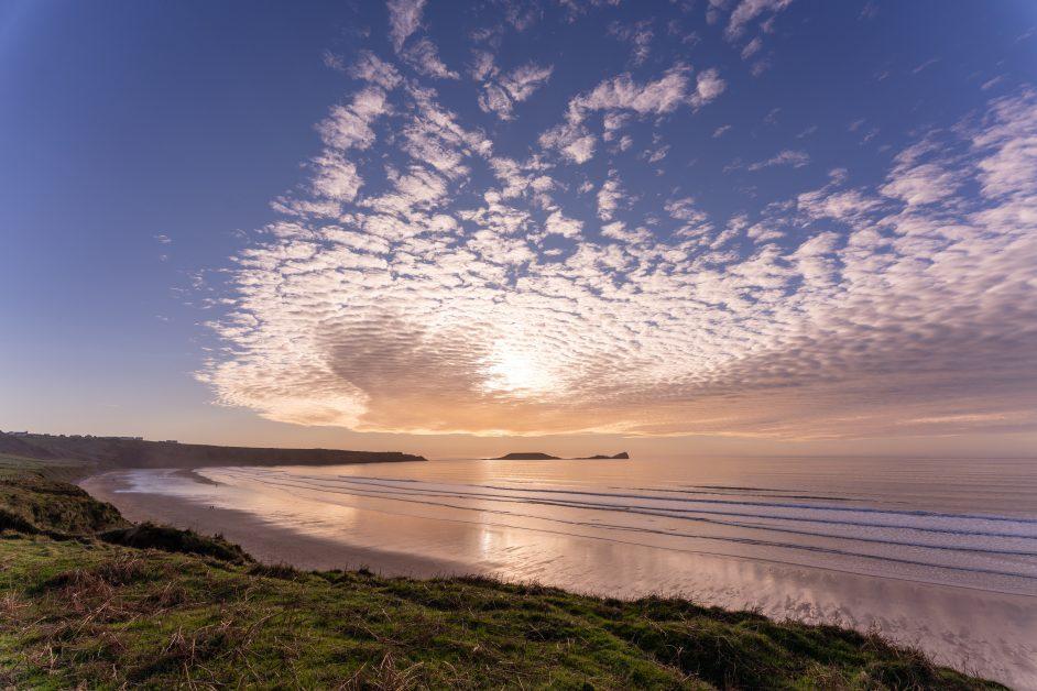 UK best beaches Rhossili Beach, Swansea