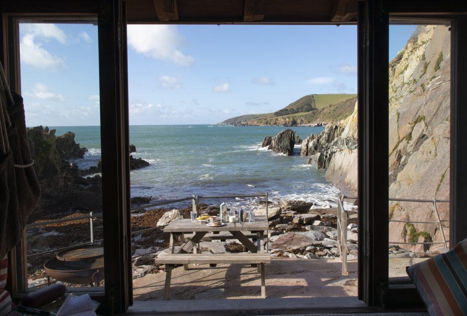 remote staycations UK The Beach Hut Devon