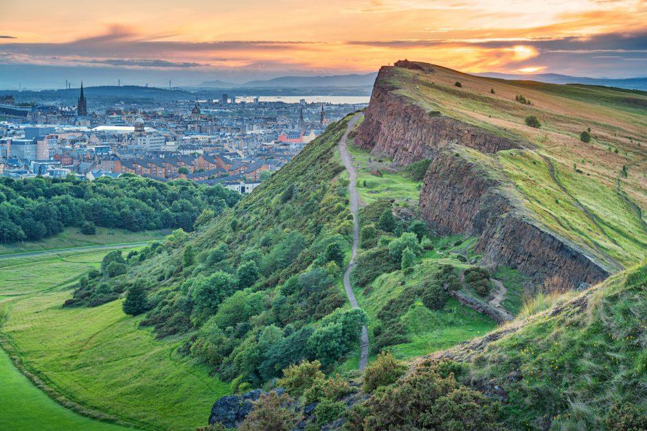 Edinburgh skyline Arthurs Seat best UK cities outside London