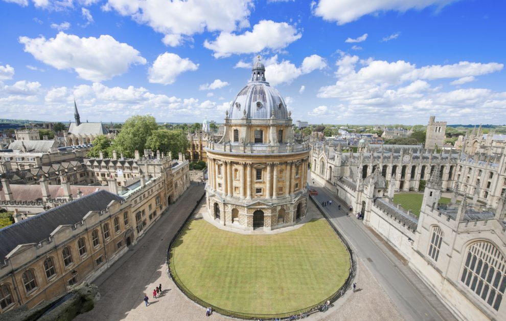 Sunny day at Radcliffe Camera in Oxford