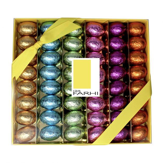 Fahri Milk Chocolate Praline Eggs in a Luxury Gift Box