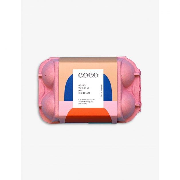 Coco Chocolatier, Golden Hen milk chocolate eggs