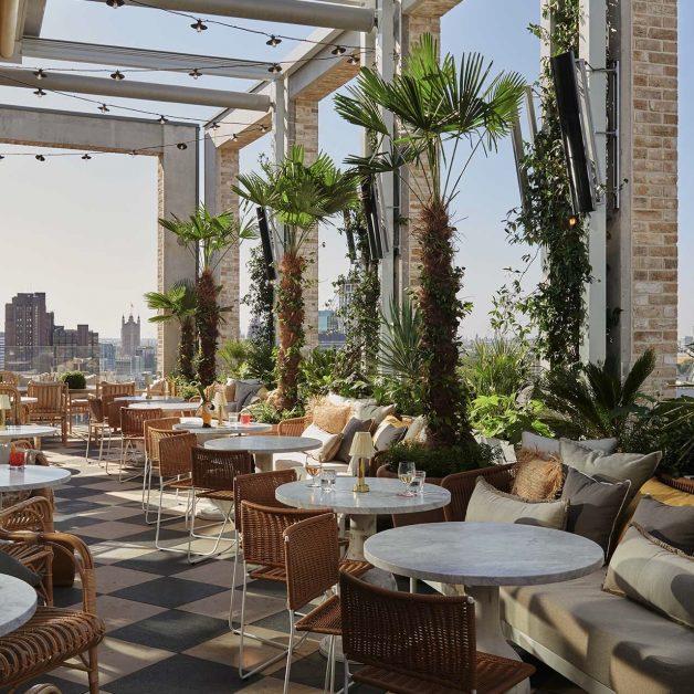 best London terraces Seabird rooftop restaurant at The Hoxton hotel Southwark