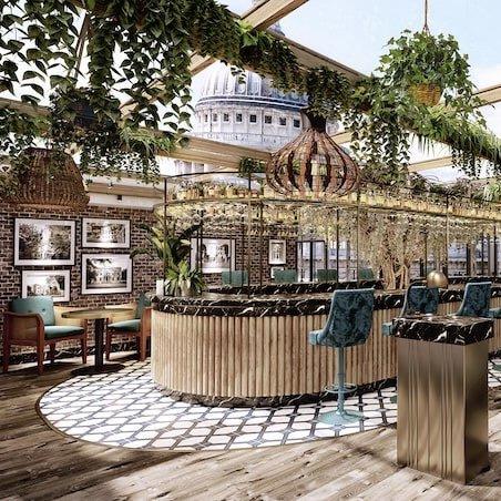 luxury outdoor dining UK Sabine rooftop bar London St Paul's