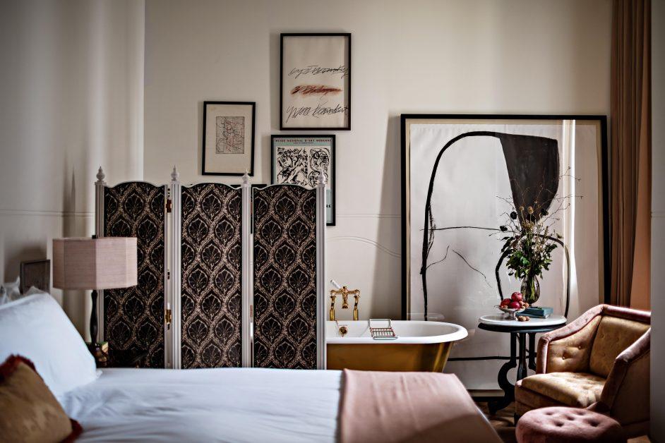 Royal Opera Suite bedroom NoMad London hotel
