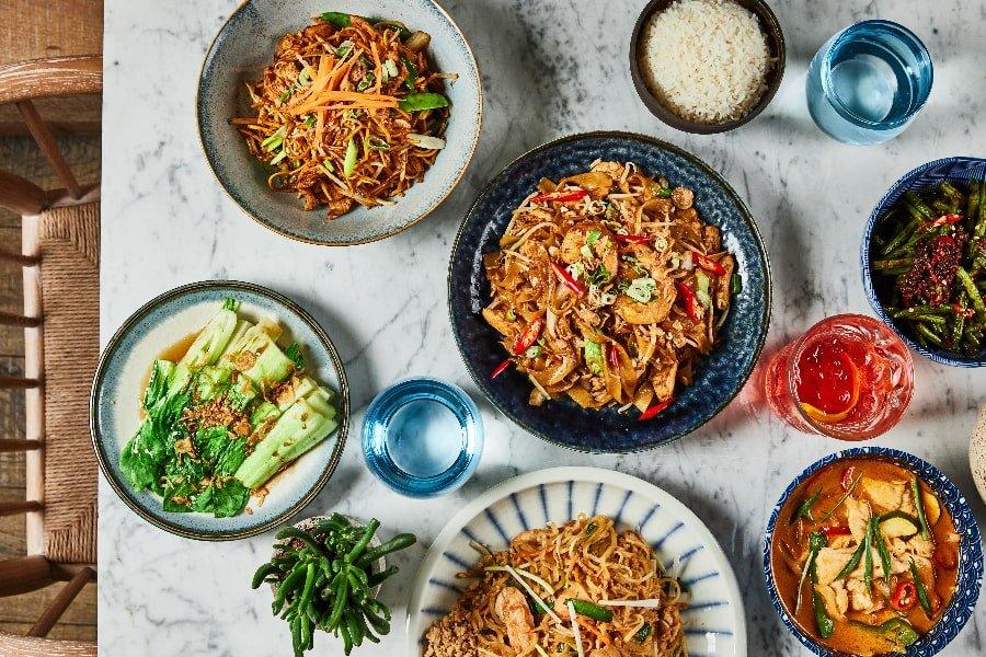 Asian cuisine at HUO restaurant