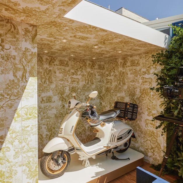 Dior at Alto restaurant Selfridges vespa