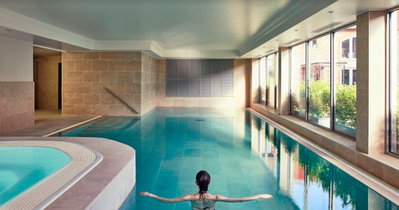 The indoor pool at The Harper hotel Norfolk