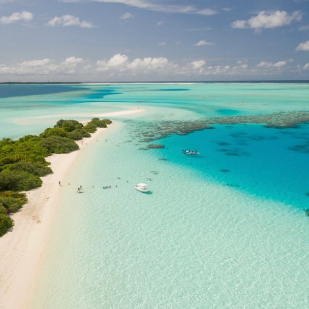 The Caribbean which looks very like the UK's Isles of Scilly
