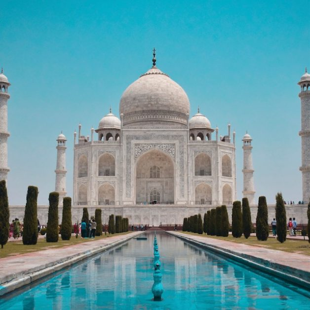 The real Taj Mahal in the Indian city of Agra.