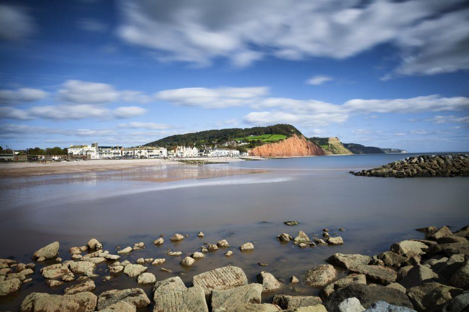 Sidmouth beach Jurassic Coast