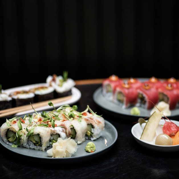 Sushi rolls at Apothecary Shoreditch