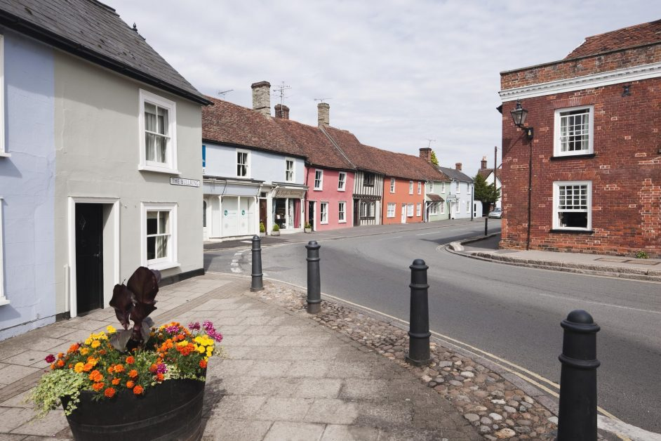 The pretty village of Thaxted Essex