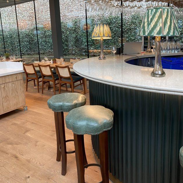 The bar area at The Garden Room Callow Hall