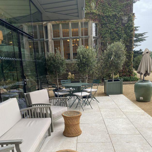 The terrace at The Garden Room restaurant