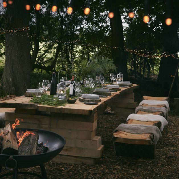Woodland dining Callow Hall